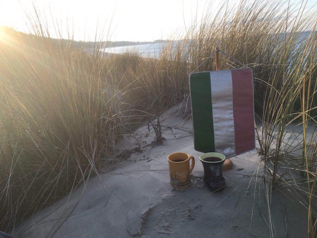 Glühwein an der Ostsee.
